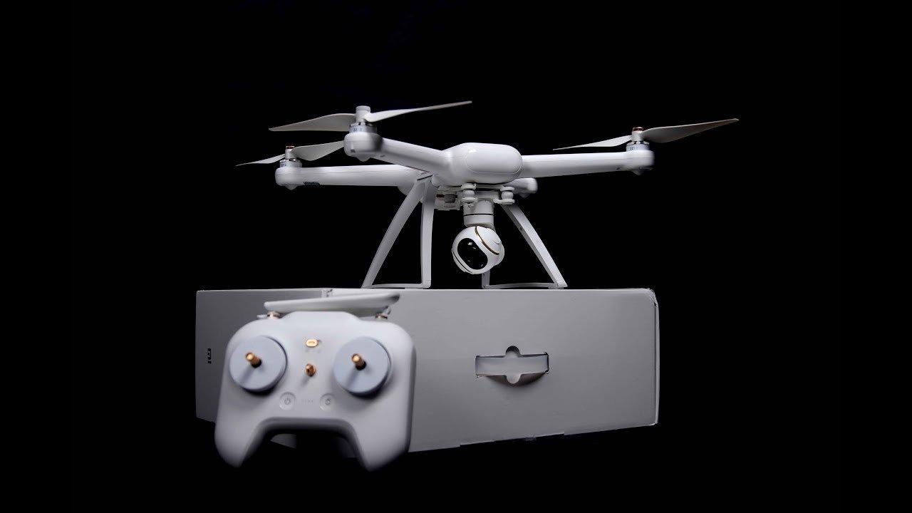 Xiaomi mi 4k drone, box and controller