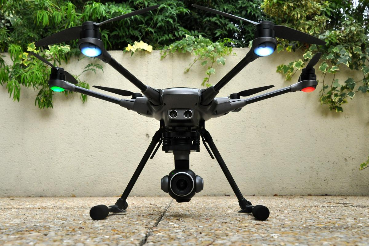 Yuneec H Plus drone standing on the floor
