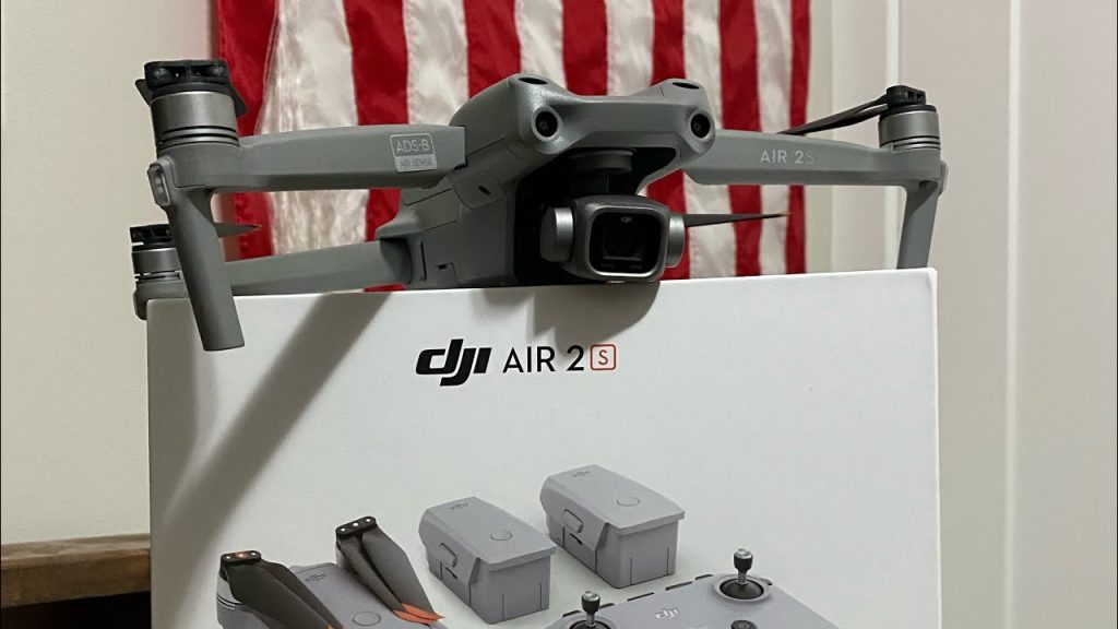 DJI AIR 2S drone with the box