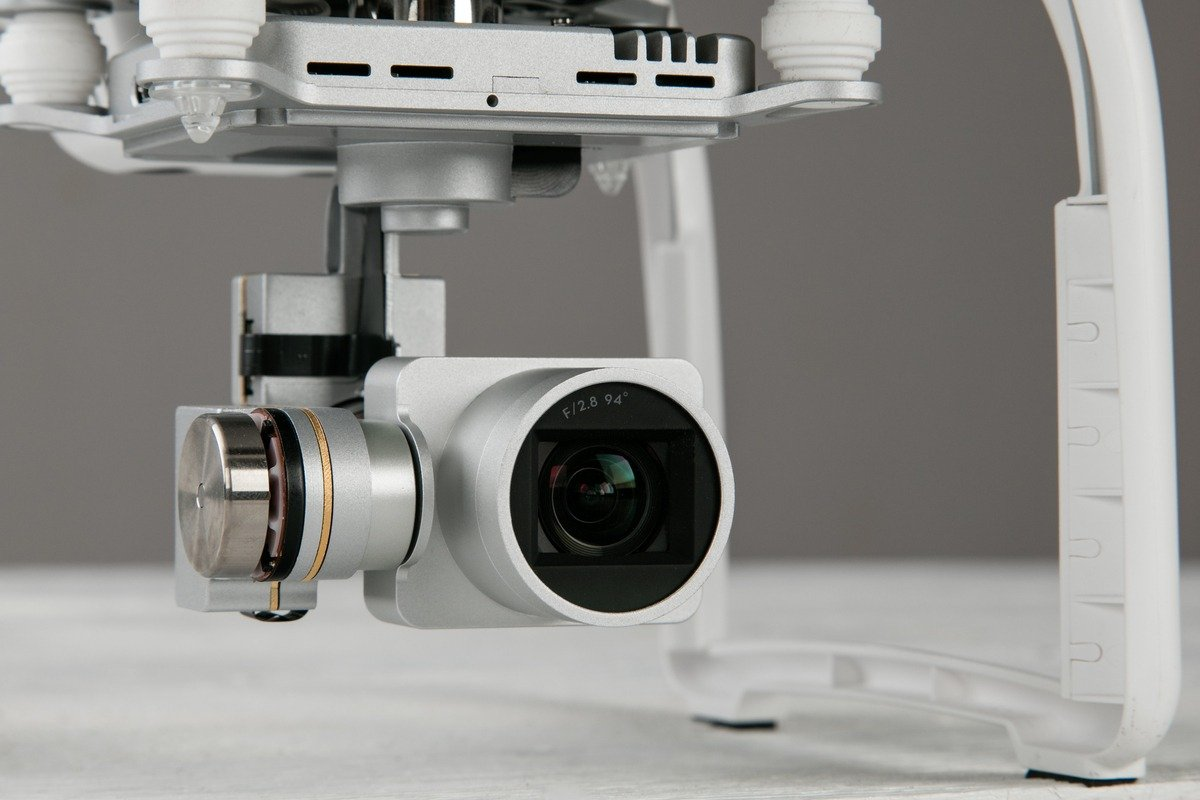 Camera attached to a drone