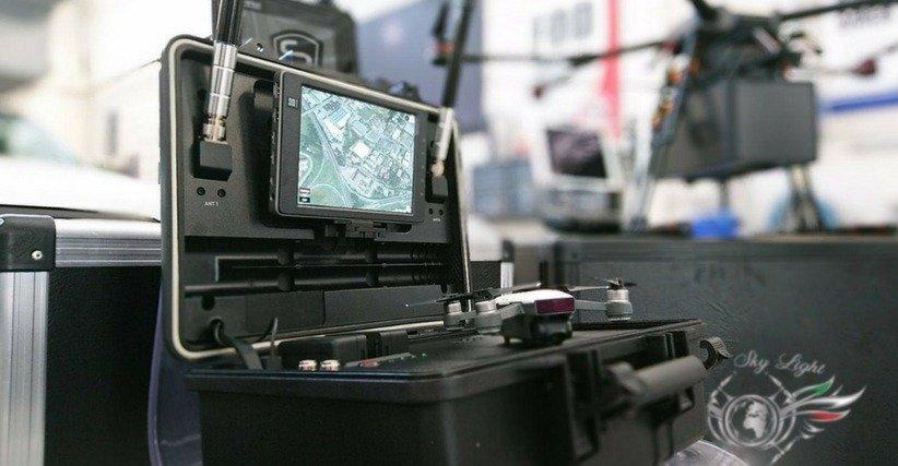 DJI Aeroscope system with a DJI drone.