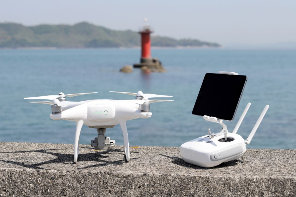 drone and remote controller with monitor